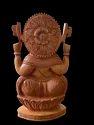 Ganesh Ji Wooden Murti 10 inch