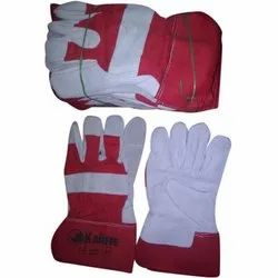 Leather(Buff/Split/Chrome) Red Canadian Gloves