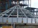 Zincalume Corrugated Grain Storage Silo