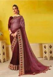 Designer Rainbow Jari Patta Saree