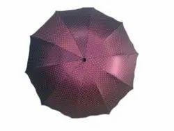 2 Fold Maroon Foldable Umbrella