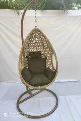 Hanging Swing Single Seater, GC-142, Honey Pe Brown, Dark Brown Cushion