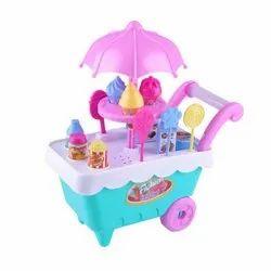 Little Ice Cream Cart Toy For Kids- 16 Pcs Set
