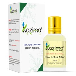 KAZIMA Pure Natural Undiluted Pink Lotus Attar