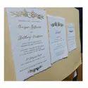 Multicolor Handmade Foil Stamped Custom Made Wedding Invitation Cards, Size: 6
