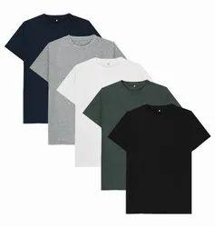 Round Half Sleeve Mens Cotton T Shirt