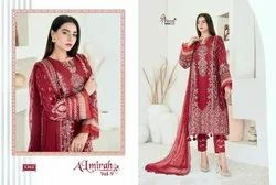 Pakistani Self Embroidered Heavy Designer Lawn Salwar Suits