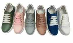 Ladies Casual Wear Canvas Shoes, Size: 36 Ind