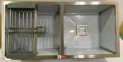 AARVIK  37x18, Stainless Steel Double Bowl Satin Matt Handmade Kitchen Sink