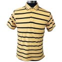 Collar Half Sleeve Eyetwister Cotton Striped Polo Neck T-shirts