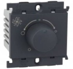 Black Plastic 4 Step Legrand Fan Regulator, Number Of Modules: 1-M, 6A