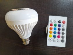 Oriva Globe Bluetooth Music LED Bulb, For Home, 200V-250V