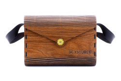 XSOURCE Brown Wooden Sling Bag, 200 Gm, Size: 12.25 L X 15 H X 7.5 W Cm