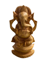 Ganesh Ji Murti 6 Inch Sitting On Shank