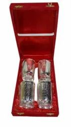 Silver Plated Glass Set, Size: 300 Ml