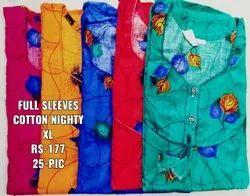 Ladies Full Sleeves Cotton Nighties