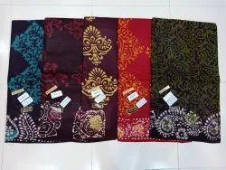 Cotton Hand Block  Batik Saree With Blouse