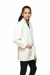 Collar White Lab Coat, For Hospital, Machine wash