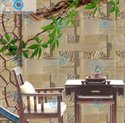 Natural Stone Honey Comb English Willow Designer CNC Tile