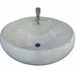 Round Ceramic Counter Top Wash Basin