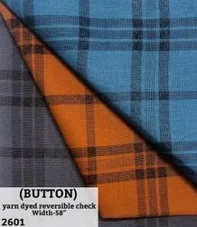 Button Yarn Dyed Reversible Check Shirting Fabric