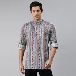 Janasya Men's Multicolor Cotton Kurta(MEN5005)