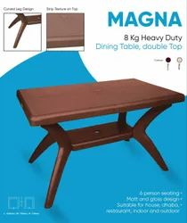 Brown Avro Magna Table, Weight: 8 Kg, 730 mm X 1220 mm X 720 mm