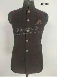 Designer Wine Black Nehru Jacket