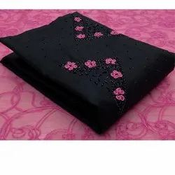 Non Catalog Heavy Hand Work Embroidery Dress Material-4