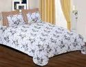 SNOWY Cotton Double Bed Sheet with 2 Pillow Cover
