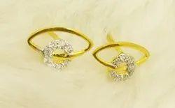Clip-on Earring Simple Gold Womens Earrings