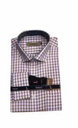 Impact Checks Mens Formal Cotton Shirt, Handwash, Size: Xl