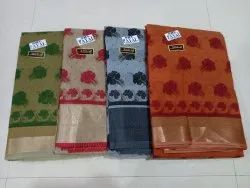 Gadwal Cotton Printed Saree With Blouse