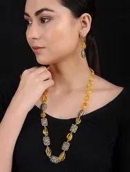 Black Tourmaline Beads Stone Mala