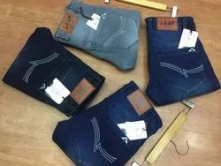 Faded Slim Knitted Lycra Jeans, Waist Size: 30 32 34 36