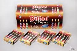 BC-26 Bittoo Ripple Birthday Candles BROWN BOX