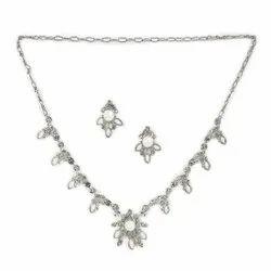 Silver Alloy Top Earrings