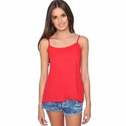 Red Sleeveless top for women (Spaghetti)