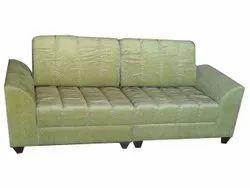 Wooden Modern Olive Green 2 Seater Sofa, Living Room