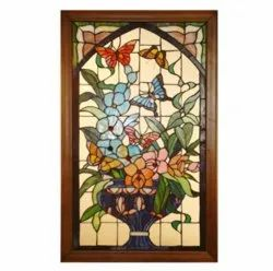 Print Golden Decorative Stained Glass, For Decoration, Thickness: 11MM