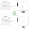 PULP Thermal Transfer Labels 100 x 100 mm (4 x 4 inch), 1 Up Chromo TT100x100x1