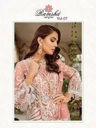 Ramsha Vol 7 Georgette Net Embroidered Pakistani Suit Catalog