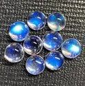 AAA+ 100% Natural Blue Moonstone Cabochon, 8mm Round Moonstone Cabochon, Eye Clean Moonstone
