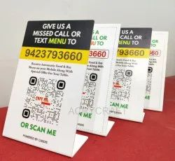 Acrylic Qr Code Stand