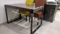 1 Pcs Metal Restaurant Table, Size: Standard