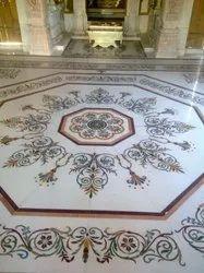 Marble Inlay Flooring Work