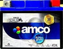 Capacity: 3Ah Amco ATZ4L Two Wheeler Battery