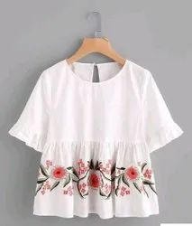 Rayon Party Wear Women Tops, Size: S To XXL