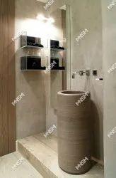 Pedestal Brown Italian Marble Wash Basin