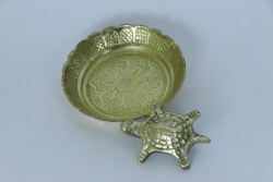 Golden Brass Shree Sarv Karya Siddhi Yantra, Size: 1.5 Inch